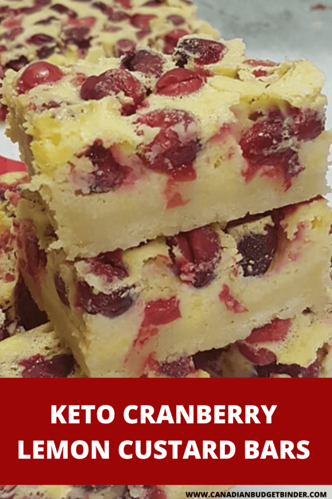 keto custard bars