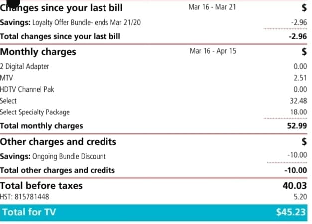 Cable Bill Rogers Communications