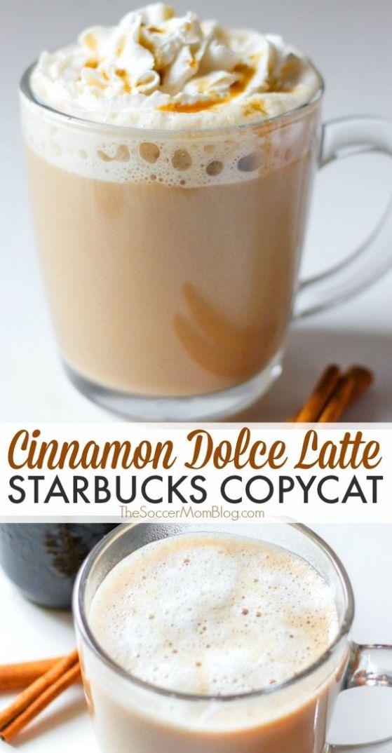 Cinnamon dolce latte starbucks copycat drink