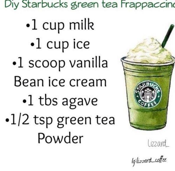 Starbucks Copycat Drinks Green Tea Frappuccino