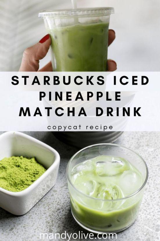 DIY Starbucks Pineapple Matcha