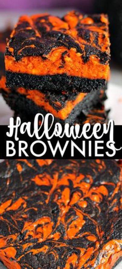 Halloween Orange Brownies