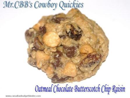 Mr.CBB's Cowboy Quickie Oatmeal Chocolate Chip Raisin Cookies