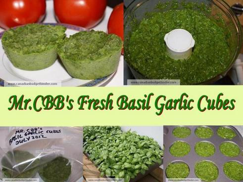 Mr.CBB's Fresh Basil Garlic Cubes