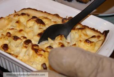 Serving Mr.CBB's Creamy Cauliflower Cheese Bake