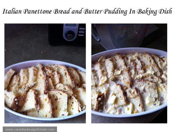 Italian Bread and Butter Pudding Ready For Oven