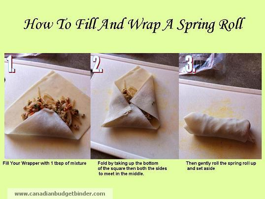 How to Fill and Roll a Spring Roll