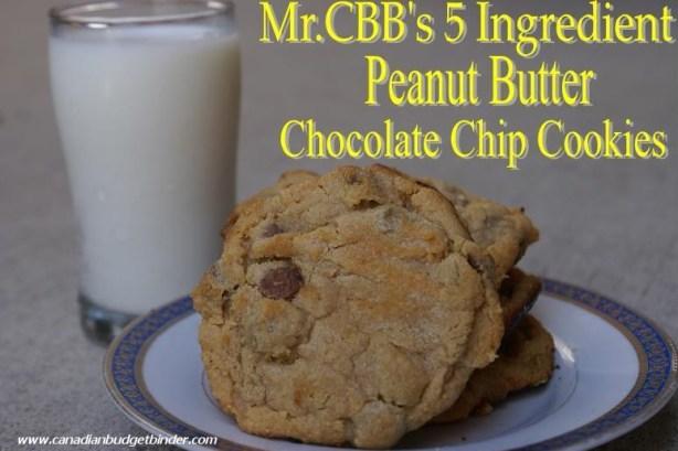 Mr.CBB's 5 Ingredient Peanut Butter Chocolate Chip Cookies