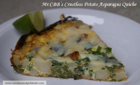 Mr.CBB's Crustless Potato Asparagus Quiche