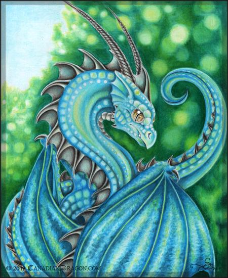 Dragon Drawing Color : dragon, drawing, color, Colored, Pencil, Gallery:, Canadian, Dragon, Fantasy