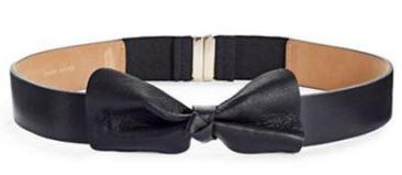 KATE SPADE NEW YORK Leather Bow Belt - $88 @ Hudson's Bay