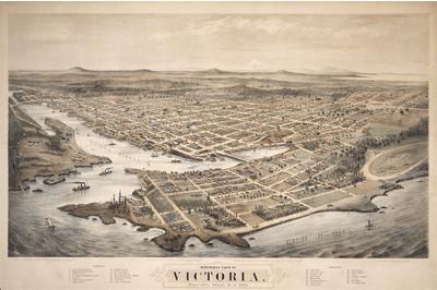 Bird's-eye view of Victoria, BC