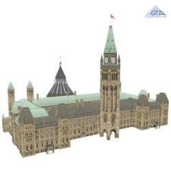Canadian Open Data / Canadian GIS Data - 3D image of Parliament Hill Ottawa