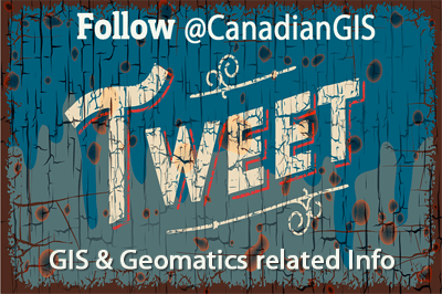 @CanadianGIS one of the most popular geomatics related Twitter accounts in Canada
