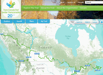 Trans Canada Trail – interactive web map