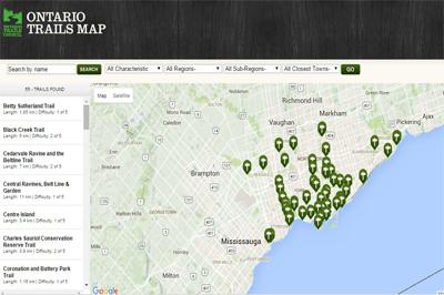 Ontario Trail Maps