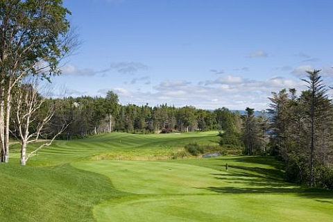 The 15th Hole at Humber Valley Resort near Deer Lake, Newfoundland