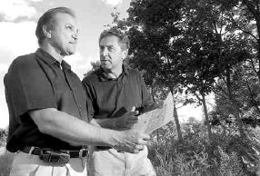 Dragon's Fire owner Bryan DeCunha and golf designer Boris Danoff discuss plans in 2007.