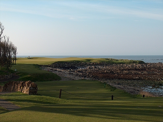 Kingsbarns' terrific 15th hard on the water.