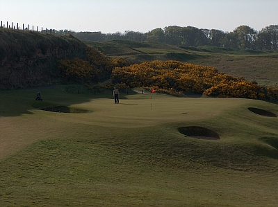 The 13th at Kingsbarns -- a terrific table top par-3.