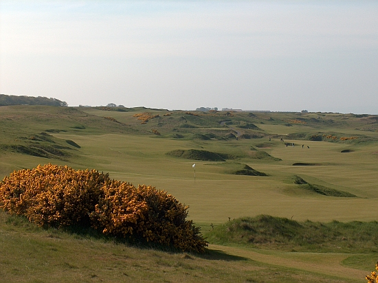 The brilliant and cool short sixth hole at Kingsbarns, which features alternate ways to approach the green.