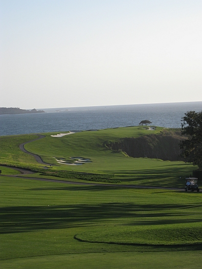 Pebble Beach's winding, wonderful sixth hole.