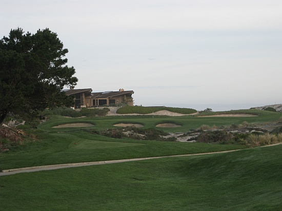 Watch out for the house -- the final hole on Spyglass Hill's opening linksland stretch