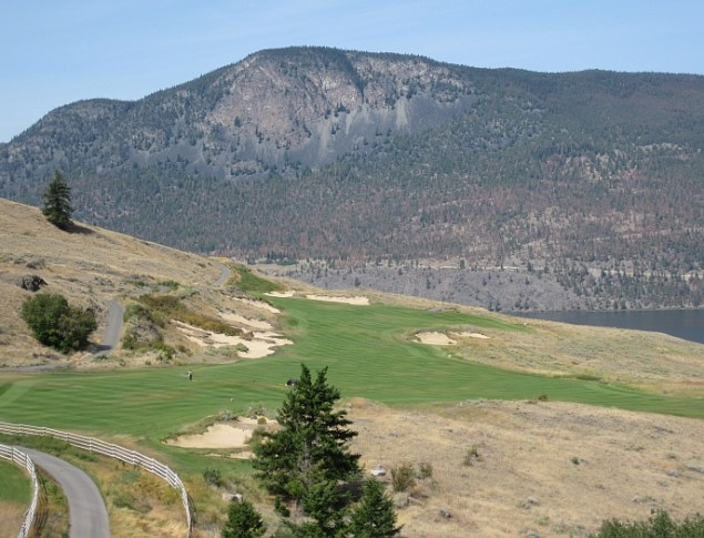 The 14th at Sagebrush -- A bold golf hole on a course full of long views.