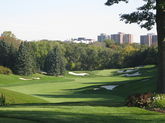 The 11th hole offers stunning long vistas