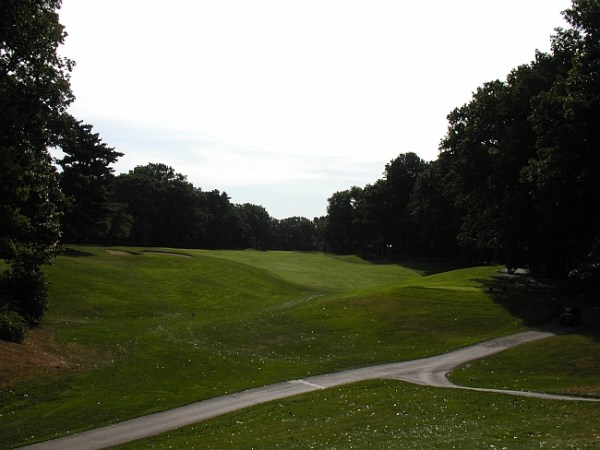 The unusual second hole is one of the course's best designs.