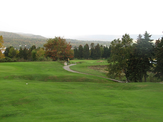 The second hole at Highlands Links from earlier this fall.