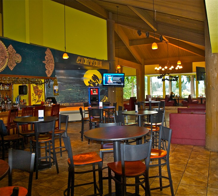 The Cantina at the 19th hole, colorful and cozy.