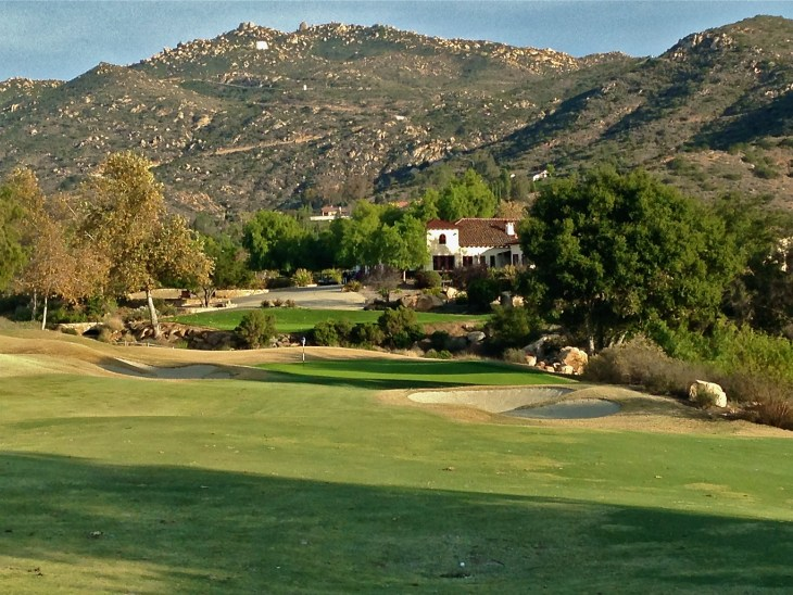With its Spanish Style clubhouse in the background enjoy the incredible final hole.