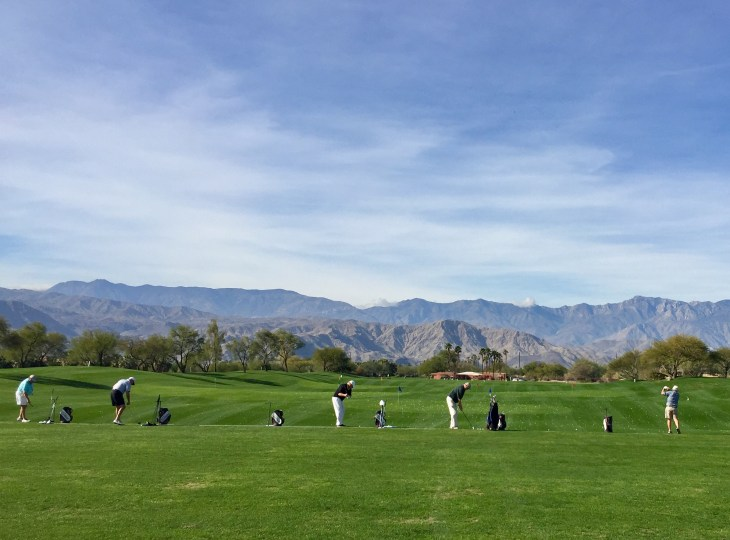 The driving range at the practice facility at Desert Willow