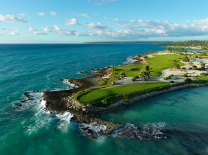 Image of a breath taking view of the 3rd hole at Punta Espada