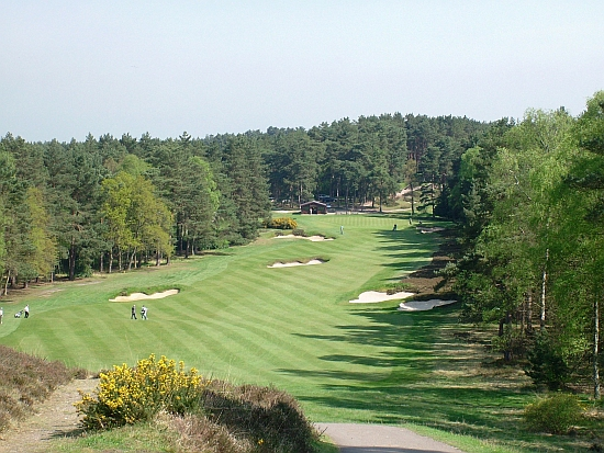 Old 10th: One of the most dramatic shots at Sunningdale Old, the 10th is breathtaking and difficult.