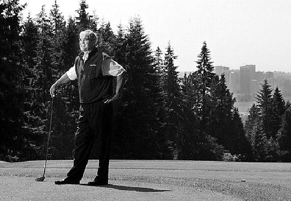 Jack Poole at Capilano in 2003. The real estate developer and Olympic organizer died yesterday.