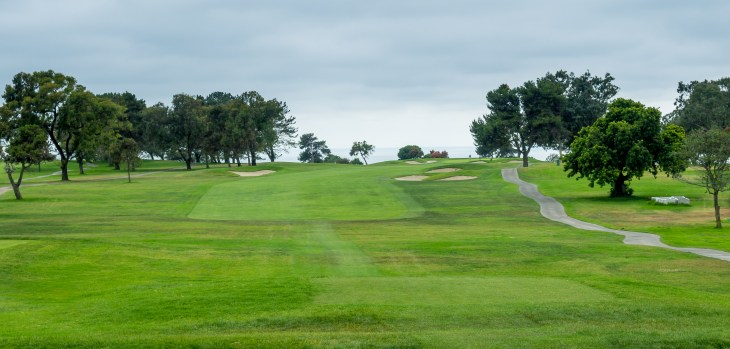 Torrey Pines South opening hole, dogleg right 1st hole