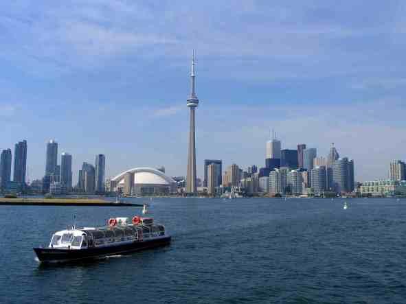 Toronto skyline from Lake Ontario