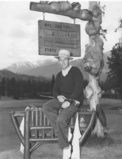 Bing Crosby at Jasper Park Lodge Golf Course. (Image: Fairmont)