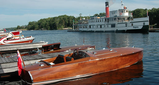The R.M.S. Seguin docks at the Gravenhurst Wharf. (Image: Discover Muskoka)