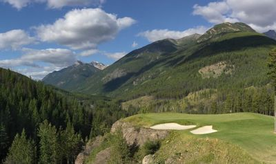 "Greywolf ""Cliffhanger"" from front tee (Image: Greywolf Golf Course)"