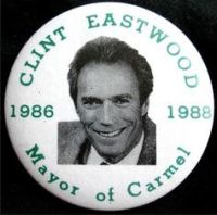 Clint Eastwood Mayor button