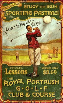 Royal Portrush Golf Club vintage poster