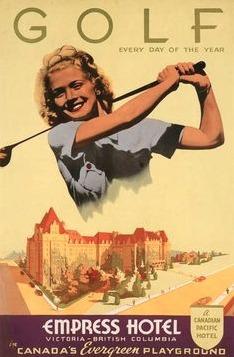 1939 poster Empress Hotel Victoria