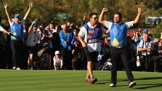 2010 Ryder Cup Graeme McDowell victory (Image: Celtic Manor)