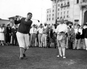 Babe Ruth and Al Smith golf at Donald Ross-designed Biltmore Golf Course. (Image: Biltmore Hotel)