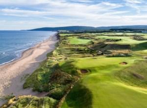Cabot Links golf course with holes along the ocean, Cape Breton Nova Scotia