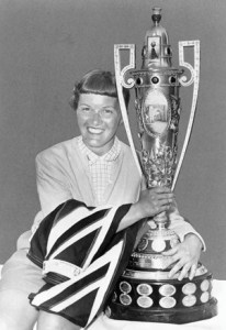 Golfer Marlene Stewart Streit wins the US Open Championship 1956