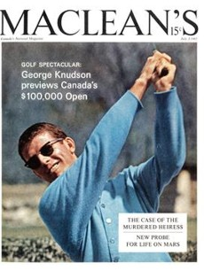 Maclean's magazine cover Canadian golfer George Knudson